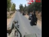 Misratah, The Battle Of Al Karim, Technicals Advancing On Loyalist Forces