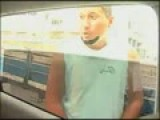 2011 Brazilian Carnival - Man Pissing On Television Car