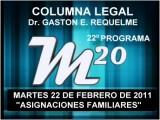 22&#186 Programa: Asignaciones Familiares - 22 02 2011 - Magazine M20 - Cablevision