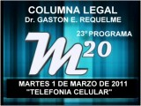 23&#186 Programa: Telefon&#237 A Celular - 01 03 2011 - Magazine M20 - Cablevision