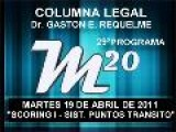 29&#186 Programa: Scoring I - Sist. De Puntos Transito - 19 04 2011 - Magazine M20 - Cablevision