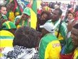 Ethiopians Celebrating The Individual Title By Gebre Gebremariam At 2009 World Cross Country