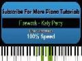 Firework - Katy Perry - Piano Tutorial #18