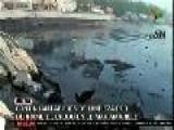 Labores De Limpieza Por Derrame De Petr&#243 Leo En Mar Amarillo