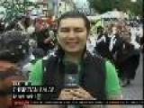 Machachi, En Ecuador, Celebra Carnaval Con Tradicional Cascaronazo