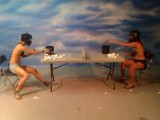 Hot Bikini Girls Slingshot Fight