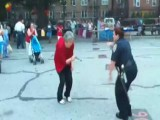 Old Asian Woman Challenges NYPD To Dance Off
