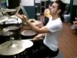 Playing The Drums While Juggling 3 Drum Sticks