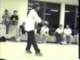 Crazy Breakdance. White Guy