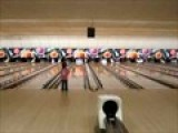 Kelsey Trying To Bowl Like