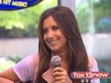 Raw Video: Ashley Tisdale Talks About New Album In Utah