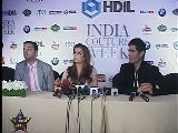 Aishwarya Rai & Manish Malhotra At Press Meet