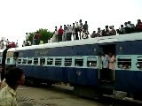 Crazy Indian Train Full Of People On The Roof