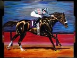 Contemporary Oil Painings Zenyatta Race Horse By Colorado Artist Jennifer Morrison