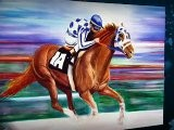 Contemporary Oil Paintings Secretariat Step By Step Impressionism By Colorado Artist Jennifer Morrison