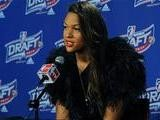 Liz Cambage At The WNBA Draft