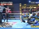 Japan TV Show: Female Kickboxer Vs Male Comedians