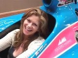 Kathy In The #43 Kathy Ireland Worldwide Window World Car Driven By John Andretti