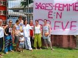 Les Sages-femmes Du CHOG Franck JOLY En Grève