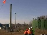 Ohio Edison Tower Blasted Falls Wrong Way - Demolition FAIL