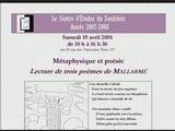 CES080419- Jean Pierre JOSSUA 1 - Poemes De Mallarmé