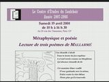 CES080419 - Jean Pierre JOSSUA 4 - 3poemes De Mallarmé