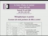 CES080419 - Jean Pierre JOSSUA 5 - 3 Poemes De Mallarmé