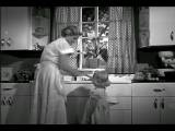 B W 1940s 50s Housewife Giving Little Girl Drink Of Water From Faucet