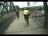 Bicycling Across The Hawthorne Bridge, Portland, Oregon