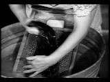 B W 1930s Close Up Woman' S Hands Washing Clothing On Washboard In Washtub