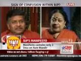 BJP Vs Congress Debate CNN-IBN - April 03, 2009