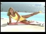 Denise Austin 1995 Huatulco In A Yellow Leotard