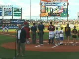 National Anthem Sung By Ken Before Iron Pigs Game