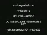 Penthouse Pet, Melissa Jacobs Smoking In Bikini