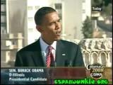 Senator Barack Obama Held A Press Conference In Amman , Jordan