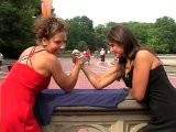 Two Girls Arm Wrestling