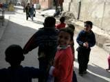 Young Palestinian Kids Singing In Gaza Refugee Camp In Jerash, Jordan