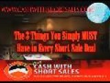 Cash With Short Sale Series With Short Sale Expert Justin Lee