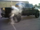 Blacked Out F150 Burnout