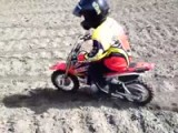 Eight-Year-Old Rides His Honda CRF-50